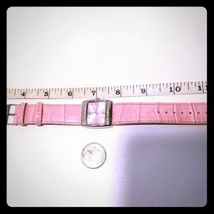 Mary kay watch, with pink leather band.